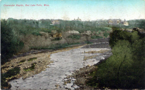 Clearwater Rapids, Red Lake Falls Minnesota, 1920's?