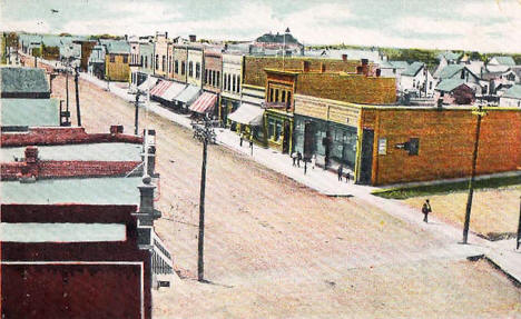 Main Street, Red Lake Falls Minnesota, 1909