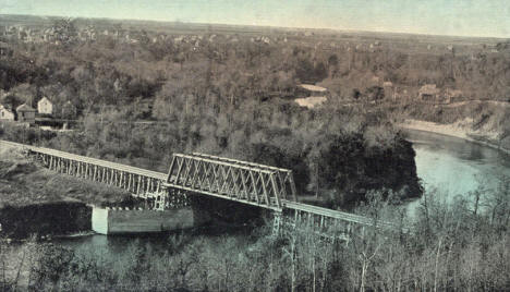 Railroad Bridge, Red Lake Falls Minnesota, 1913