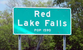 Red Lake Falls, Minnesota Population Sign