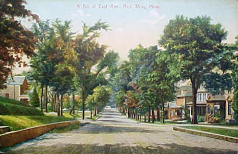 View of East Avenue, Red Wing Minnesota, 1909