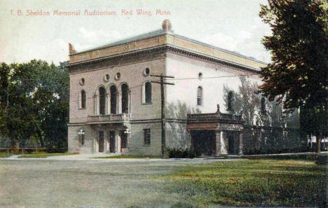 Sheldon Memorial Auditorium, Red Wing Minnesota, 1908