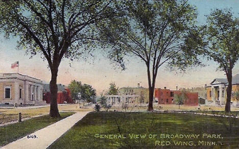 Broadway Park, Red Wing Minnesota, 1914