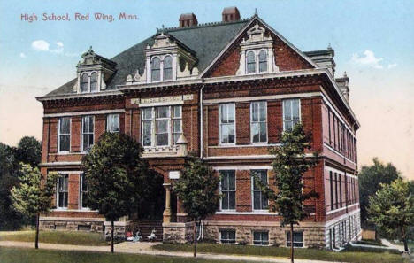 High School, Red Wing Minnesota, 1908
