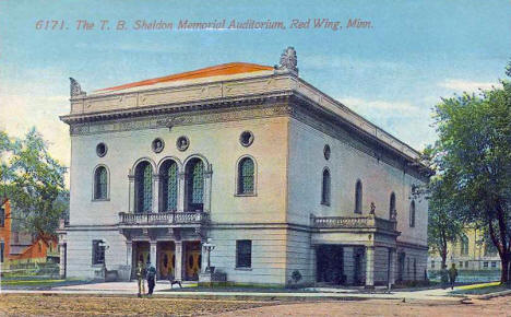 The T. B. Sheldon Memorial Auditorium, Red Wing Minnesota, 1910's