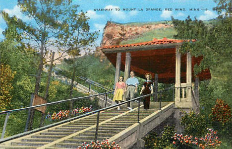 Stairway to Mount La Grange, Red Wing Minnesota, 1940's