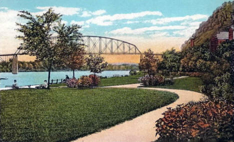 Levee Park, Red Wing Minnesota, 1920's