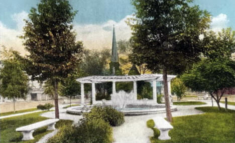 Central Park and Pergola, Red Wing Minnesota, 1930's