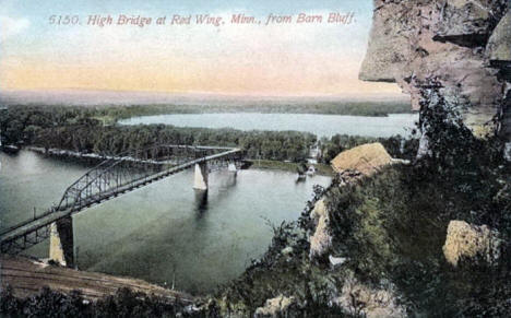 High Bridge from Barn Bluff, Red Wing Minnesota, 1910's