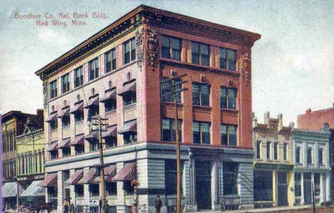 Goodhue County National Bank Building, Red Wing Minnesota, 1910's