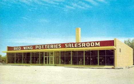 Original Red Wing Pottery Showroom, Red Wing Minnesota, early 1950's