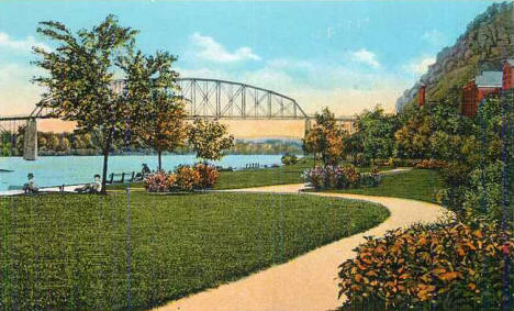 Levee Park, Red Wing Minnesota, 1930's