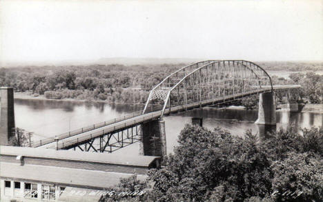 Mississippi River Bridge, Red Wing Minnesota, 1940's