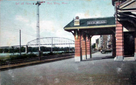 Railroad Depot, Red Wing Minnesota, 1916