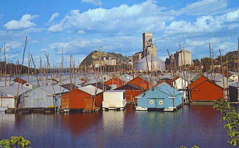 Boathouse Village, Red Wing Minnesota, 1965