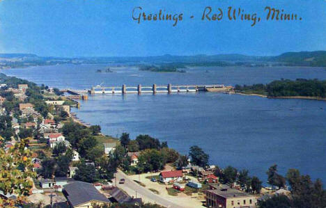 View of Red Wing Minnesota, 1960's?