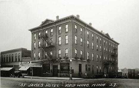 St. James Hotel, Red Wing Minnesota, 1920's