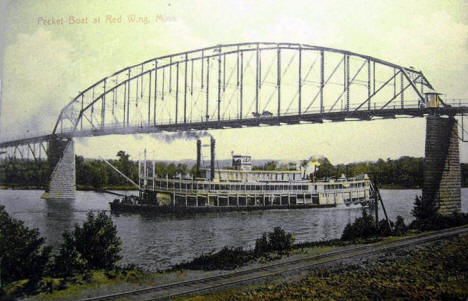Packet Boat at Red Wing Minnesota, 1910