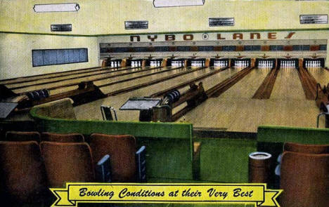 Nybo Lanes, Red Wing Minnesota, 1940's
