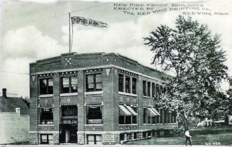 New Red Wing Republican Building, Red Wing Minnesota, 1910's?