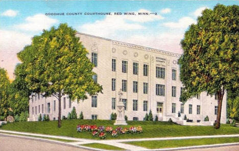 Goodhue County Courthouse, Red Wing Minnesota, 1940's