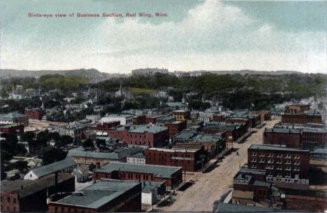 Birds eye view, Red Wing Minnesota, 1910's?