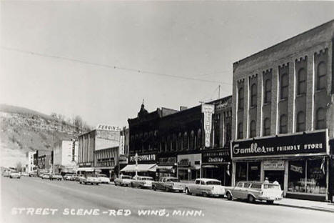 Street scene, Red Wing Minnesota, 1964