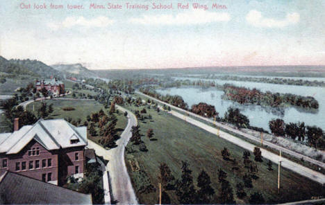 View from tower at Minnesota Training School, Red Wing Minnesota, 1907