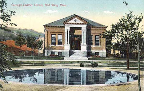 Carnegie-Lawther Library, Red Wing Minnesota, 1910