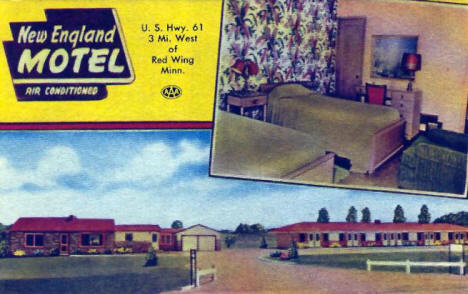 New England Motel, Red Wing Minnesota, 1956