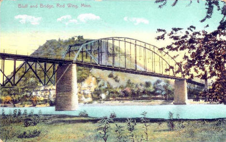 Bluff and Bridge, Red Wing Minnesota, 1912