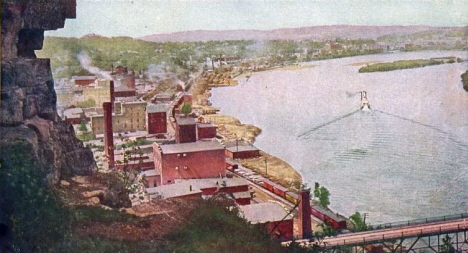 Birds eye view, Red Wing Minnesota, 1907