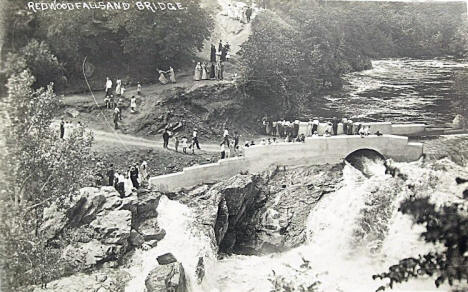 Redwood Falls and Bridge, Redwood Falls Minnesota, 1910's