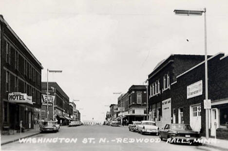 Washington Street, Redwood Falls Minnesota, 1950's