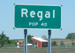 Regal Minnesota population sign