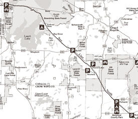 Soo Line North ATV Trail Map