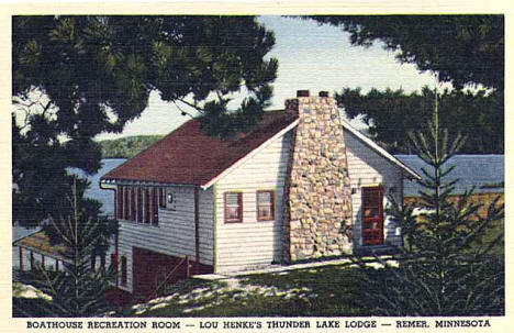 Lou Henke's Thunder Lake Lodge near Remer Minnesota, 1940