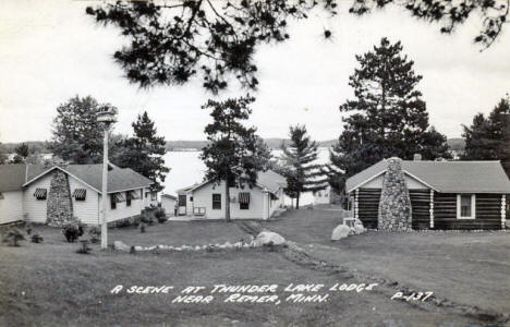 Thunder Lake Lodge, Remer Minnesota, 1940's