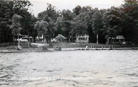 Erickson Resort on Big Boy Lake, Remer Minnesota, 1957