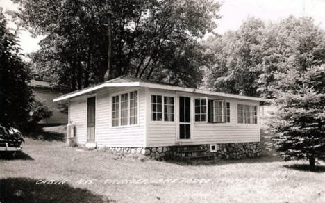 Cabin at Thunder Bay Lodge, Remer Minnesota, 1960
