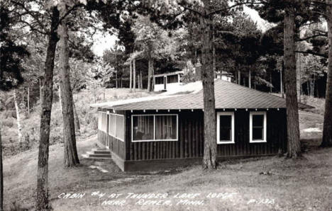 Cabin at Thunder Bay Lodge, Remer Minnesota, 1955