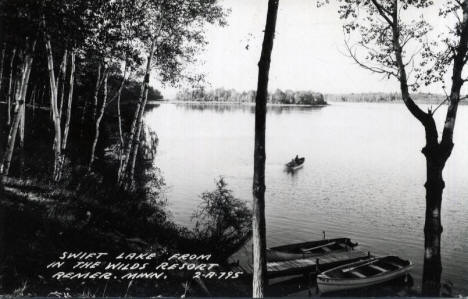 In the Woods Resort on Swift Lake, Remer Minnesota, 1940's