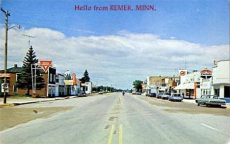 Downtown Remer Minnesota, 1964