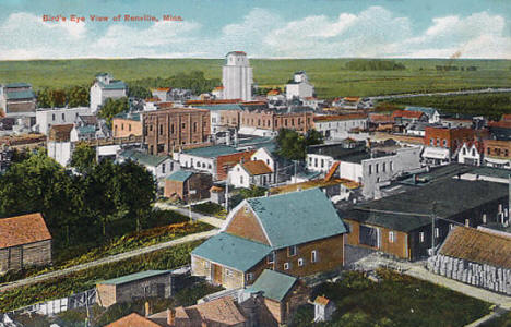 Birds eye view, Renville Minnesota, 1910's