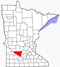 Location of Renville County Minnesota