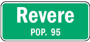 Revere Minnesota population sign