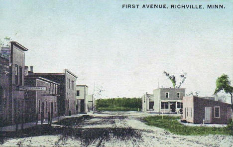 First Avenue, Richville Minnesota, 1914