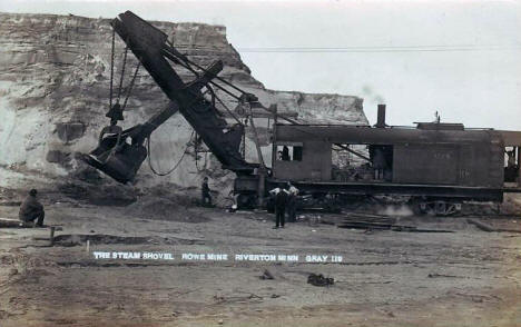 Steam Shovel, Rowe Mine, Riverton Minnesota, 1913