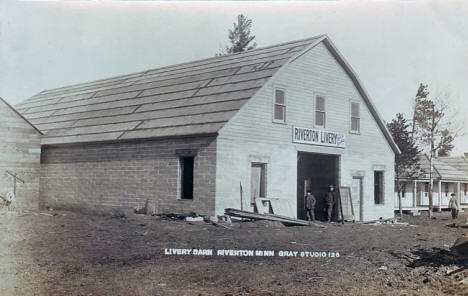Livery Barn, Riverton Minnesota, 1910's