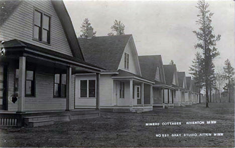 Miners cottages, Riverton Minnesota, 1915